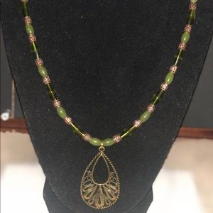 Jewelry - Custom made olive green Necklace